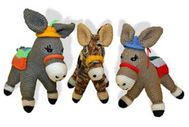 Free Dk Baby Knitting Patterns : Knitted donkeys prove a hit Horsetalk - International horse news
