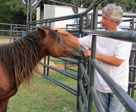 Fabio gets to know trainer, Jacque Favre.
