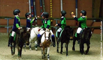 Young riders in Italy work on their game.
