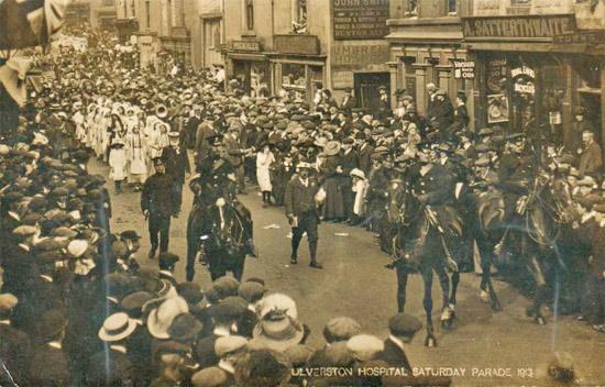 Ulverston Hospital Saturday Parade 1913.