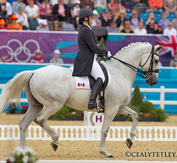 Jacqueline Brooks and D Niro are ranked 18th after the opening day of Dressage competition on August 2 at the 2012 London Olympic Games.