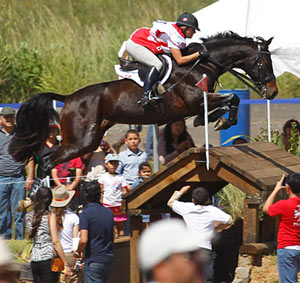 Canada's 2011 Equestrian of the Year, Jessica Phoenix, pictured on Pavarotti at the XVI Pan American Games in Guadalajara, Mexico.