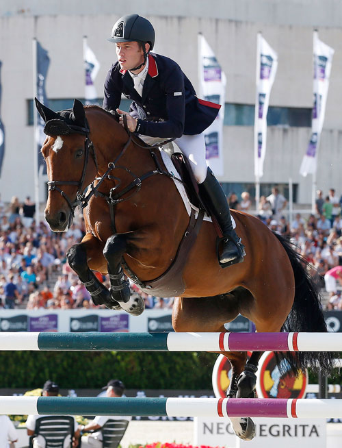 Scott Brash (GBR) en route to a double clear with Ursula XII for a half share of the €200.000 bonus on offer in Barcelona.