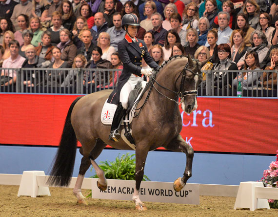 Charlotte Dujardin and Valegro broke the Freestyle world record with their winning performance at Olympia's World Cup Dressage leg.
