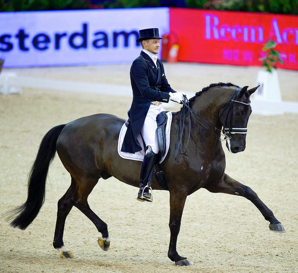 Second placegetters Edward Gal (NED) and Glock's Undercover. © Arnd Bromkhurst/FEI