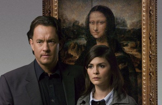 Tom Hanks and Audrey Tautou in the 2006 film adaptation of The Da Vinci Code.
