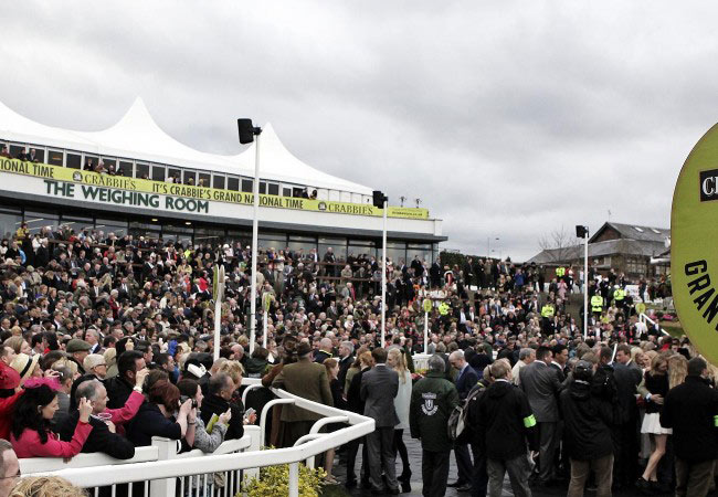The Weighing Room at Aintree.