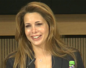 Princess Haya was clearly moved by the show of support from National Federations.