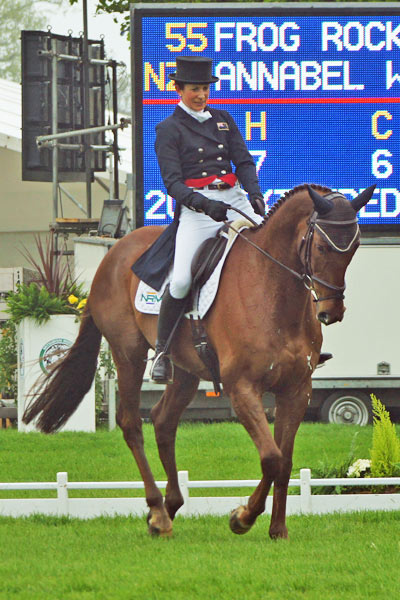 Annabel Wigley (NZL) and Frog Rock.