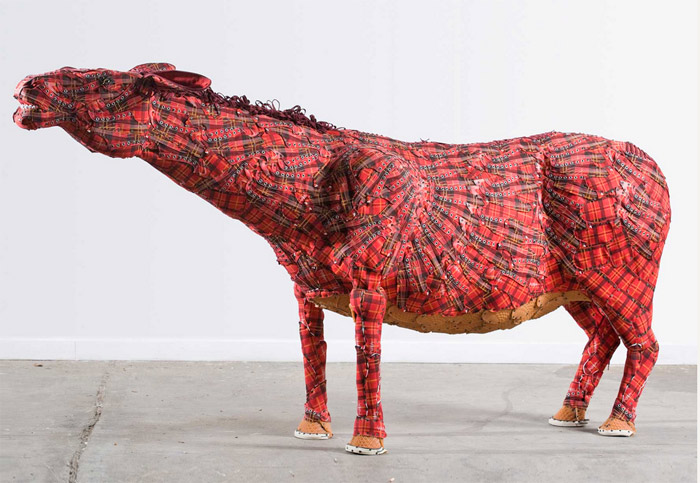 """Mule"", made from wood and shoes."