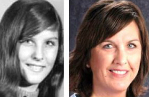 Jane Andre Cotta, left, around the time of disappearance in 1973, and how she might look around 2012, through the use of age progression software.