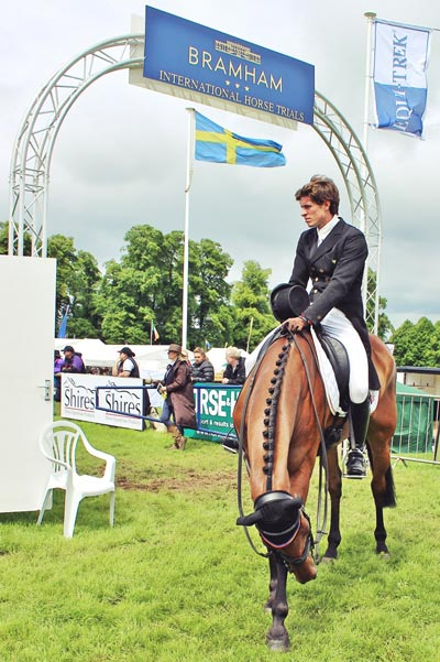 Maxime Livio and Opium de Verrieres, 22nd after the dressage.