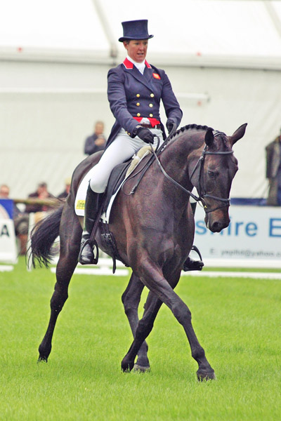 Nicola Wilson and Annie Clover, third after the dressage.