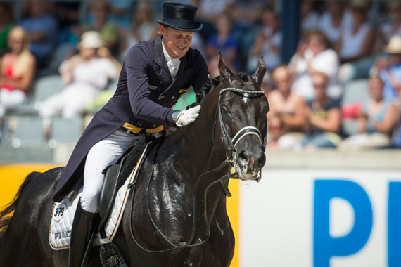 Matthias Alexander Rath and Totilas led the German team to victory at the FEI Nations Cup Dressage leg on home ground in Aachen.