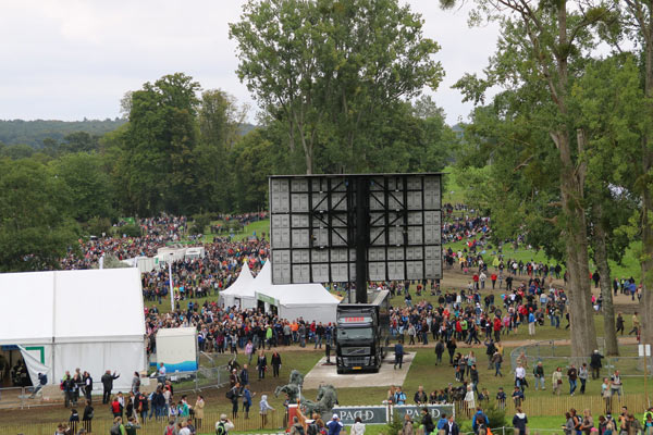 Crowds at the cross-country for WEG 2014. Many people were stuck in traffic and missed most of the action.
