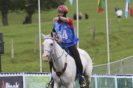 Jaume Punti Dachs leads Spain to team gold, riding Novisaad D'Aqui.