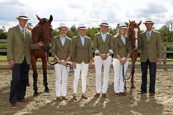 Ireland's eventing squad after the trot-up for the World Equestrian Games. A new partnership deal between Dubarry of Ireland and the country's eventing team has been announced.