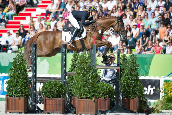 Sandra Auffarth and the Normandy-bred Opgun Louvo were foot-perfect throughout to take individual eventing gold and lead the Germans to team gold at the Alltech FEI World Equestrian Games.