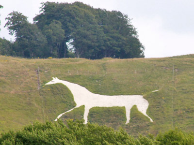 The White Horse of Cherhill.