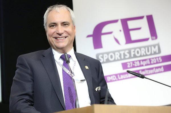 FEI President Ingmar De Vos closes the 2015 Sports Forum. Photo: Germain Arias-Schreiber/FEI