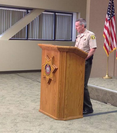 Sheriff John McMahon at Friday's press conference.