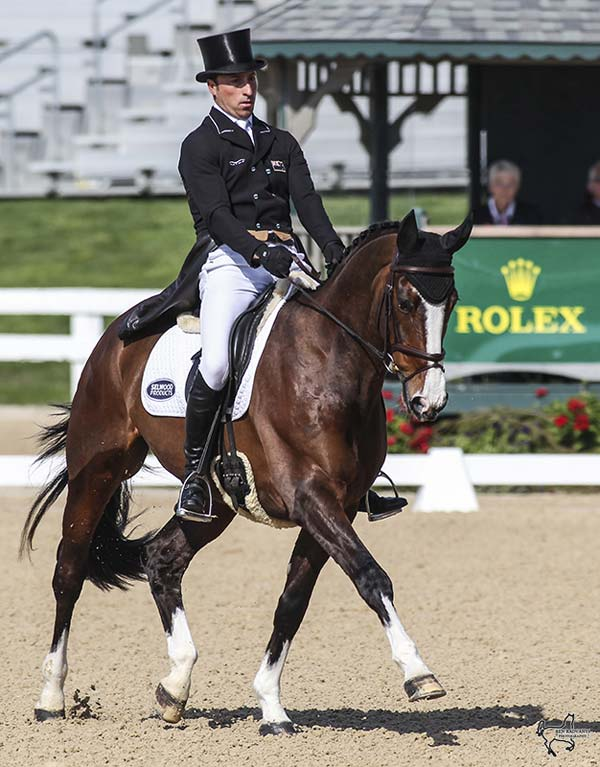 Tim Price and Wesko are tied for the lead at the Rolex Kentucky Three-Day Event, presented by Land Rover, with a score of 36.3.