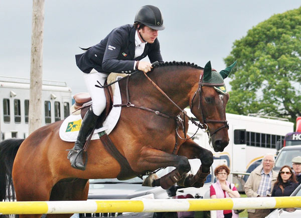 Greg Broderick and MHS Going Global impressed in their five-star debut in the Nations Cup jumping contest at Lummen in Belgium.