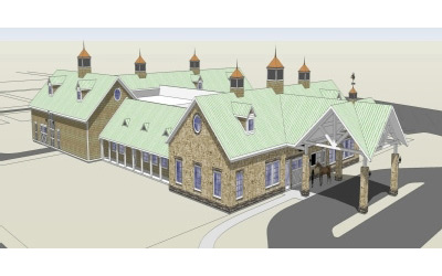 An artist's impression of Purdue University's new Centaur Equine Diagnostic and Surgical Centre