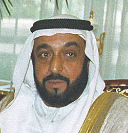 UAE's president, Sheikh Khalifa Bin Zayed Al Nahyan.