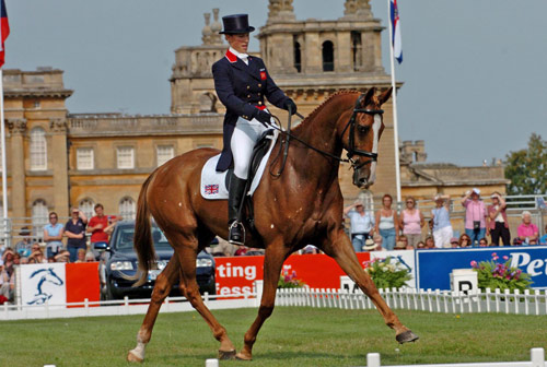 Zara Phillips and Toytown at the 2005 European Championships at Blenheim Palace.