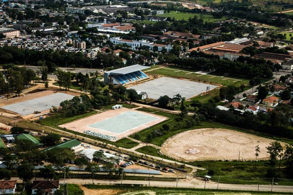 Aerial shots of the Olympic Equestrian Centre at Deodoro taken at the beginning of July. Photo:  Renato Sette Camara / City Hall of Rio de Janeiro