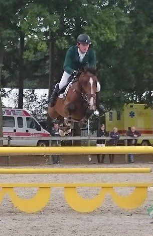 Eddie Moloney and , pictured at the FEI World Championships for Young Horses in Lanaken.