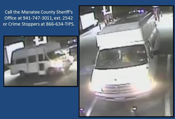The vehicle driven by the pair. Photo: Manatee County Sheriff's Office/Facebook