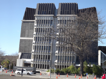 The Christchurch court building.