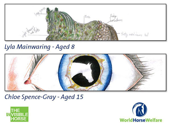 The two winning entries from a design competition will be incorporated into World Horse Welfare's fence at Badminton.