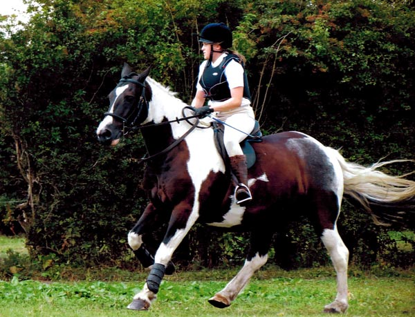 Chloe Spence-Gray and her horse, Stanley.