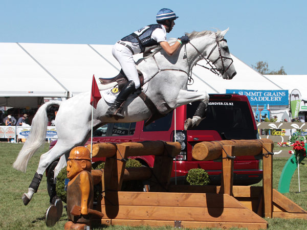 New Zealand Eventing Horse of the Year winners Clarke Johnstone and Balmoral Sensation.