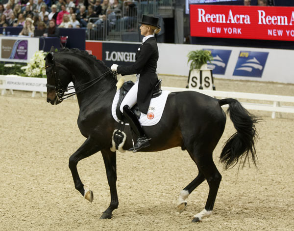 Jessica von Bredow-Werndl and the stallion Unee B were third World Cup dressage final.
