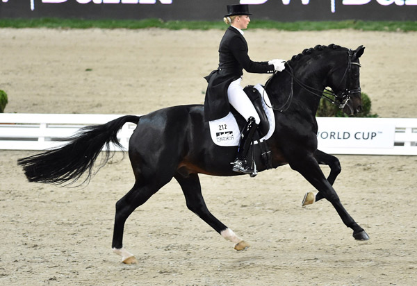 Germany's Jessica von Bredow-Werndl, pictured on Une BB, is one of the 18 contenders hoping to grasp the title at the Reem Acra FEI World Cup Dressage 2016 Final in Gothenburg, Sweden next week.