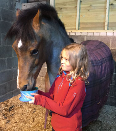 Lyla Mainwaring and her pony, Ronnie.