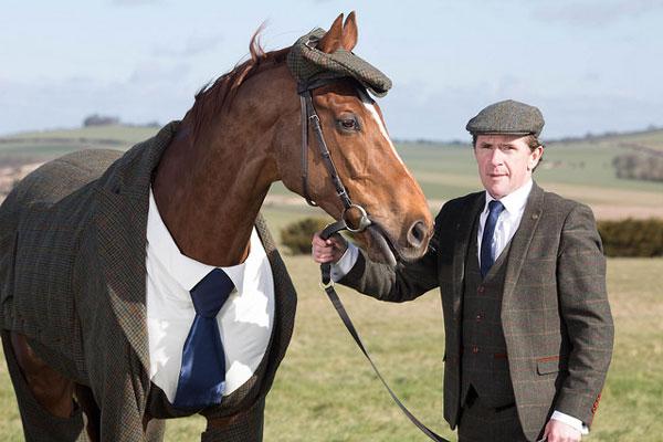 Morestead with fellow tweed fan, former champion jockey Sir Anthony McCoy.