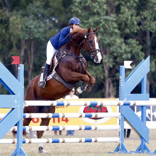 Caitlyn Fischer and Ralphie in the 1* at Camden earlier this month.