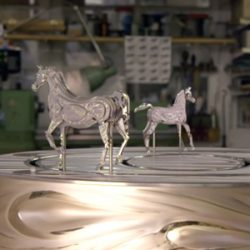 Year-long labour of love: Clock brings alive horse movement