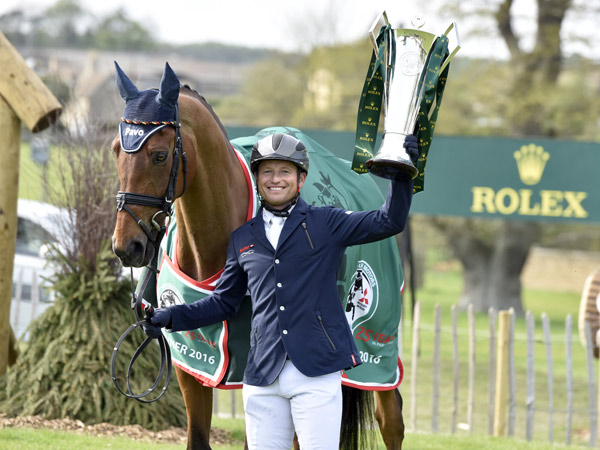Michael Jung, with Badminton winner La Biosthetique Sam FBW, is only the second rider to win the Rolex Grand Slam.
