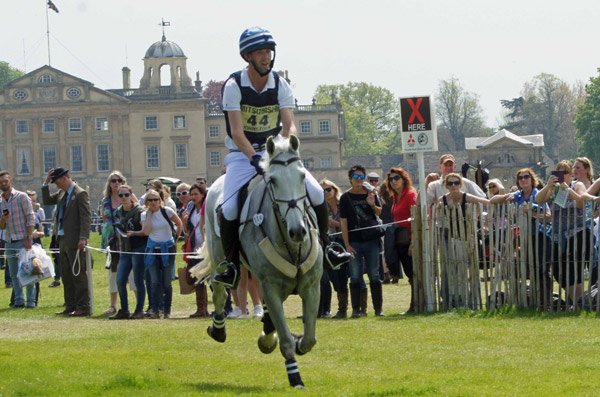 Clarke Johnstone is sixth after the cross-country in his first Badminton, riding Balmoral Sensation.