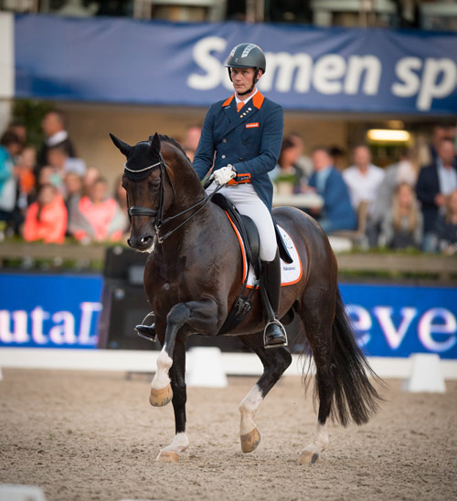 Diederik van Silfhout and Arlando NOP's third-place finish in the Freestyle clinched victory for The Netherlands in the fourth leg of the FEI Nations Cup Dressage 2016 series. © FEI/Arnd Bronkhorst