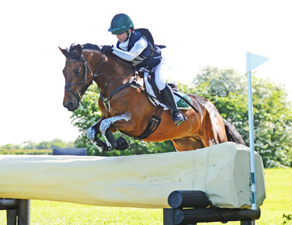 Zara Nelson andMillridge Buachaill Bui won theBerney Bros. CCI1* Pony Class at Tattersalls.