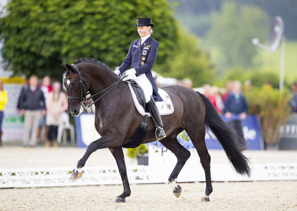 Germany's Sanneke Rothenberger and Deveraux OLD claimed a hat-trick of gold medals at the inaugural FEI U25 Dressage Championships 2016 in Hagen.