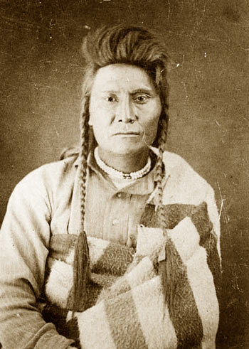 A photograph of Chief Joseph taken three weeks after his surrender in October 1877.