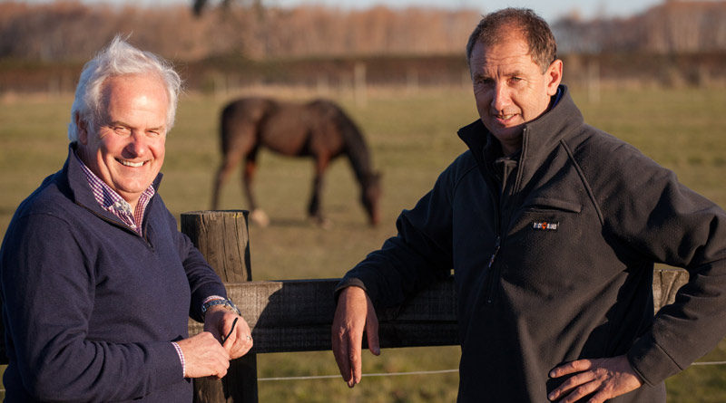 Eyreton horse stud owner Darryl Brown withEnvironment Canterbury'sWaimakariri Zone Committee manager Andrew Arps.